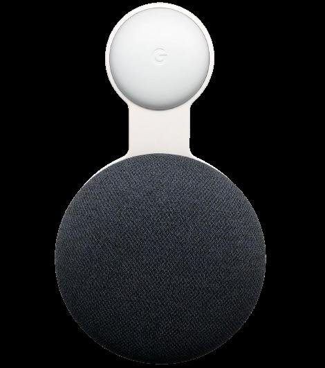 De Google Home Mini wand houder van Domotiq