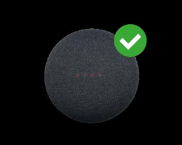 Google nest mini reset stap 6 goed gereset